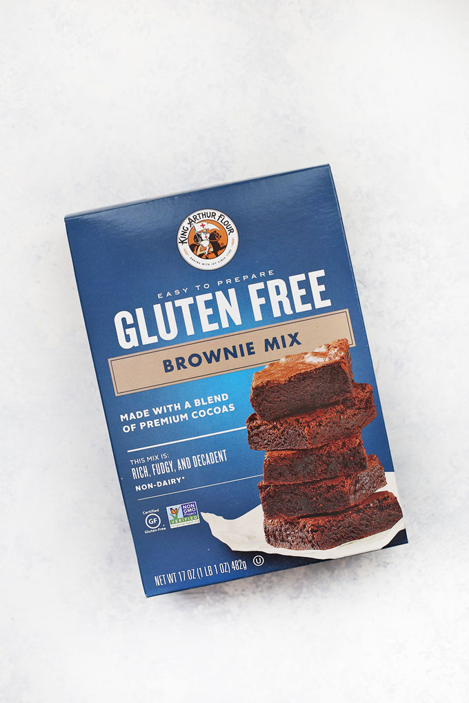 King Arthur Flour Gluten Free Brownie Mix on a white background