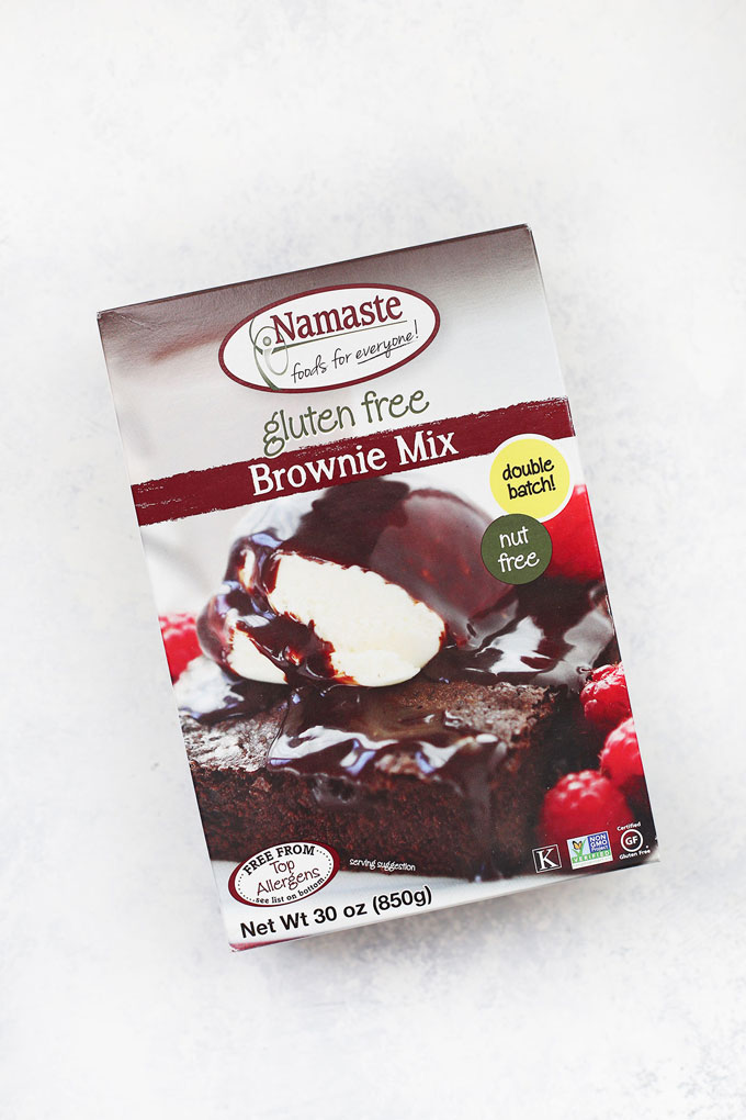 Namaste Gluten Free Brownie Mix on a white background