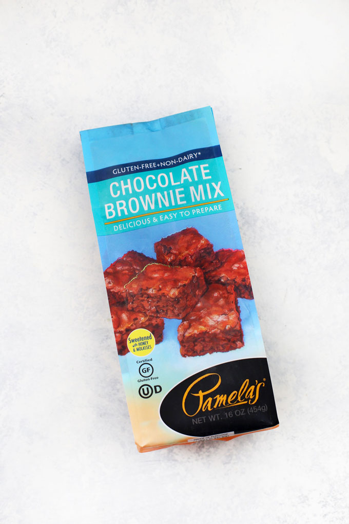 Pamela's Gluten Free Brownie Mix on a white background