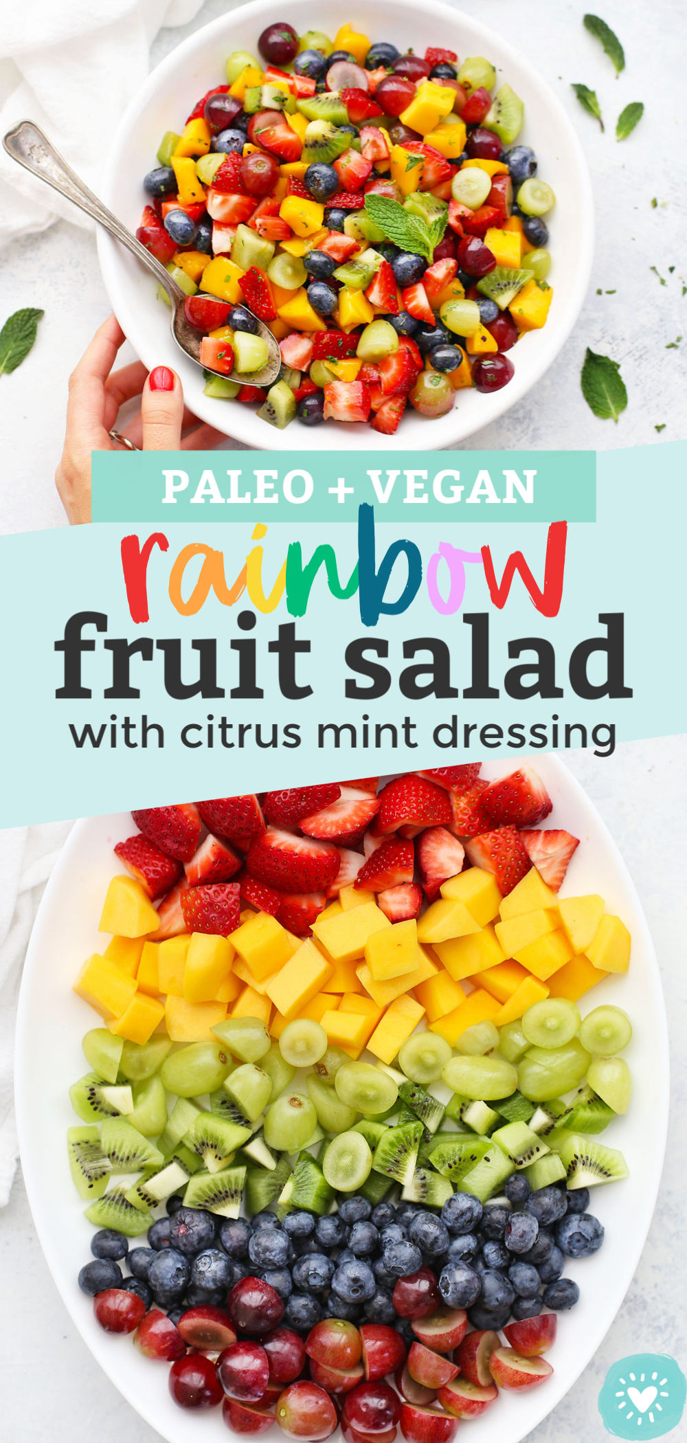 The Best Rainbow Fruit Salad from One Lovely Life