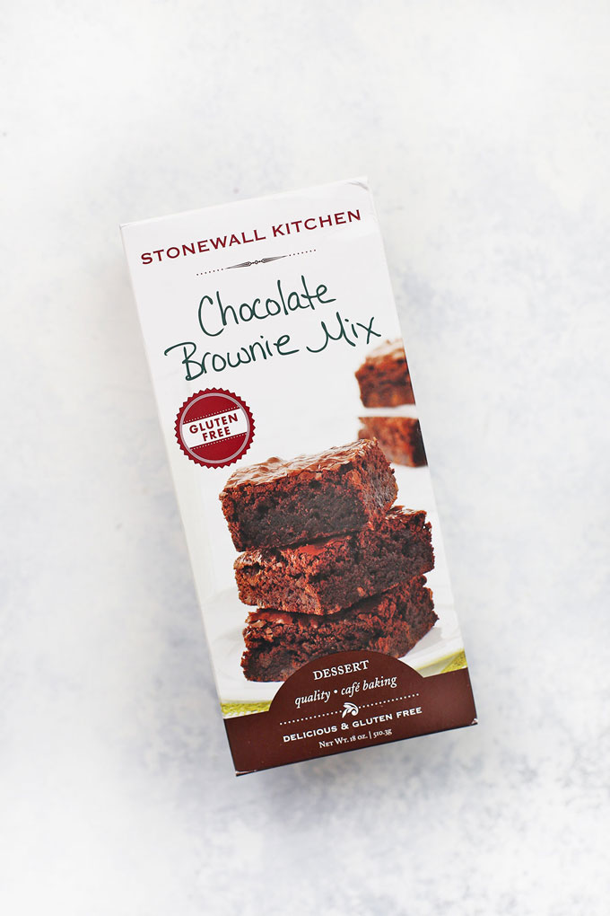 Stonewall Kitchen Gluten Free Brownie Mix on a white background