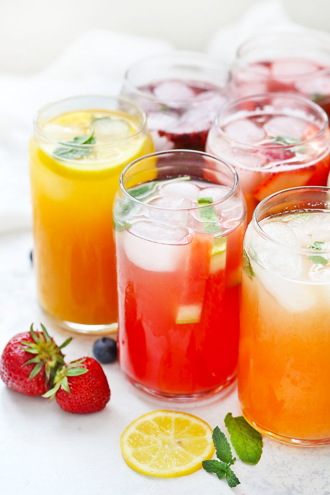 Naturally Sweetened Lemonade in 8 flavors from One Lovely Life