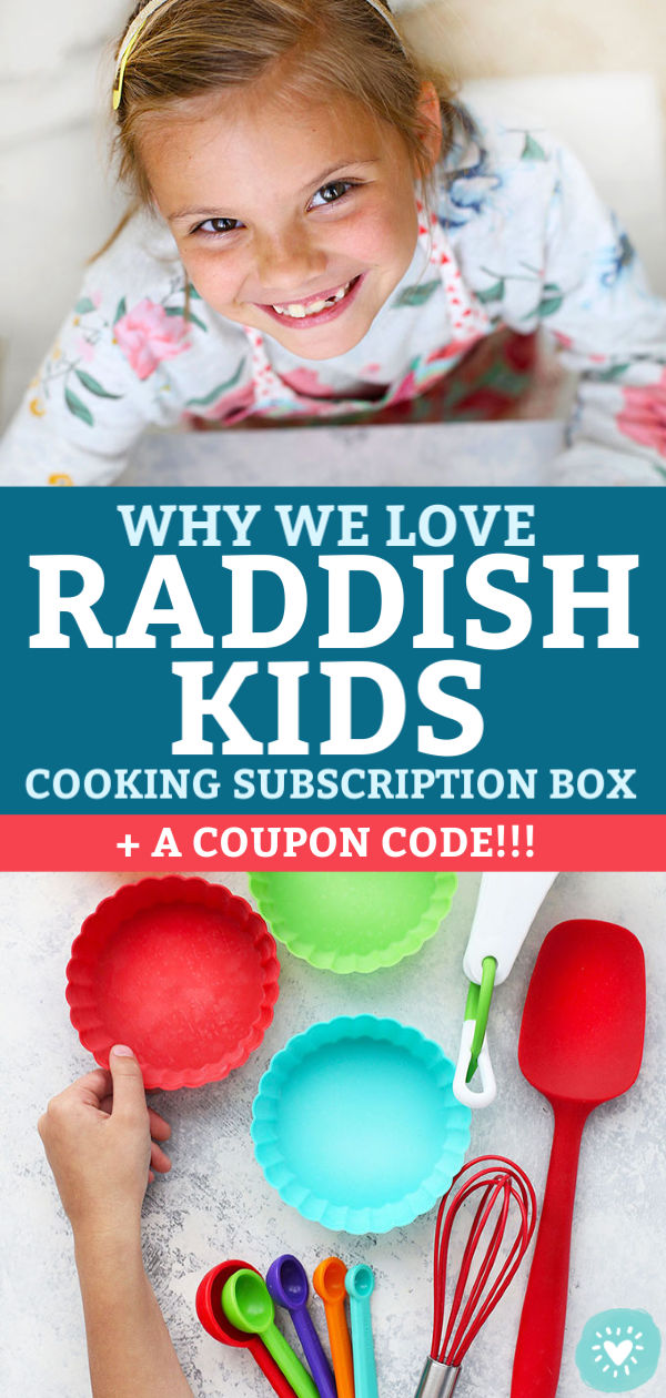 Collage of images with Raddish Kids Subscription