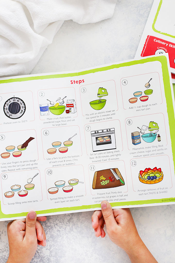 Raddish Kids Illustrated Recipe Cards with Step-by-Step Instructions
