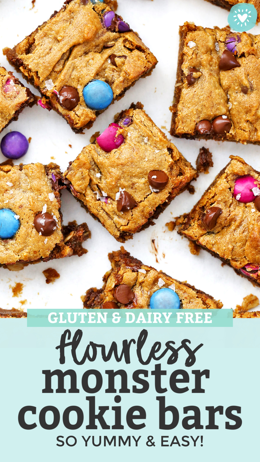 Flourless Monster Cookie Bars from One Lovely Life