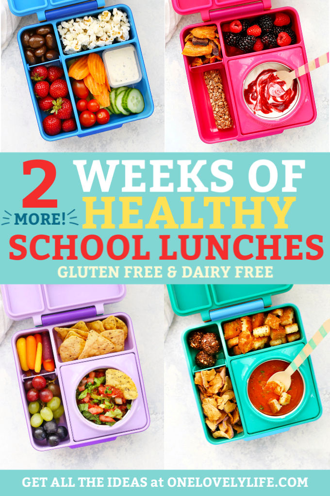 4 Healthy School Lunches from One Lovely Life
