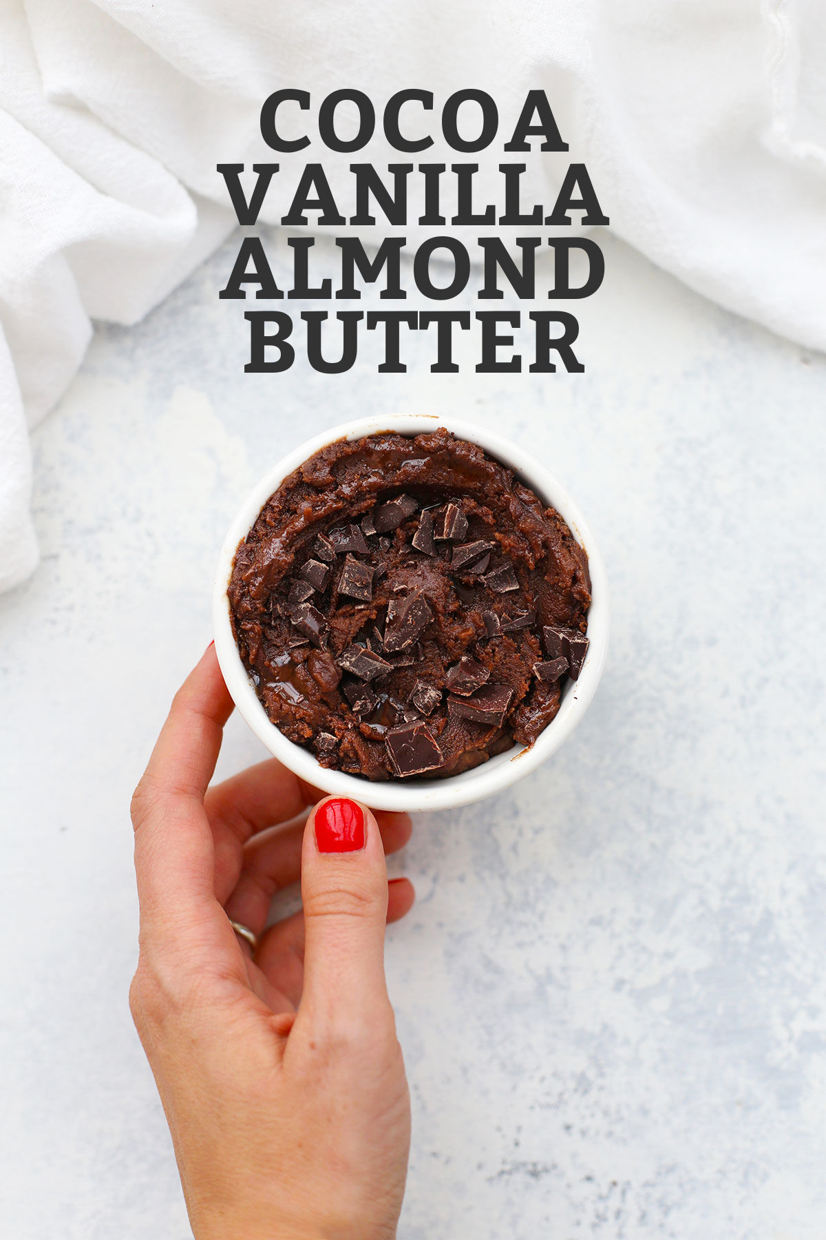 Cocoa Flavored Almond Butter from One Lovely Life