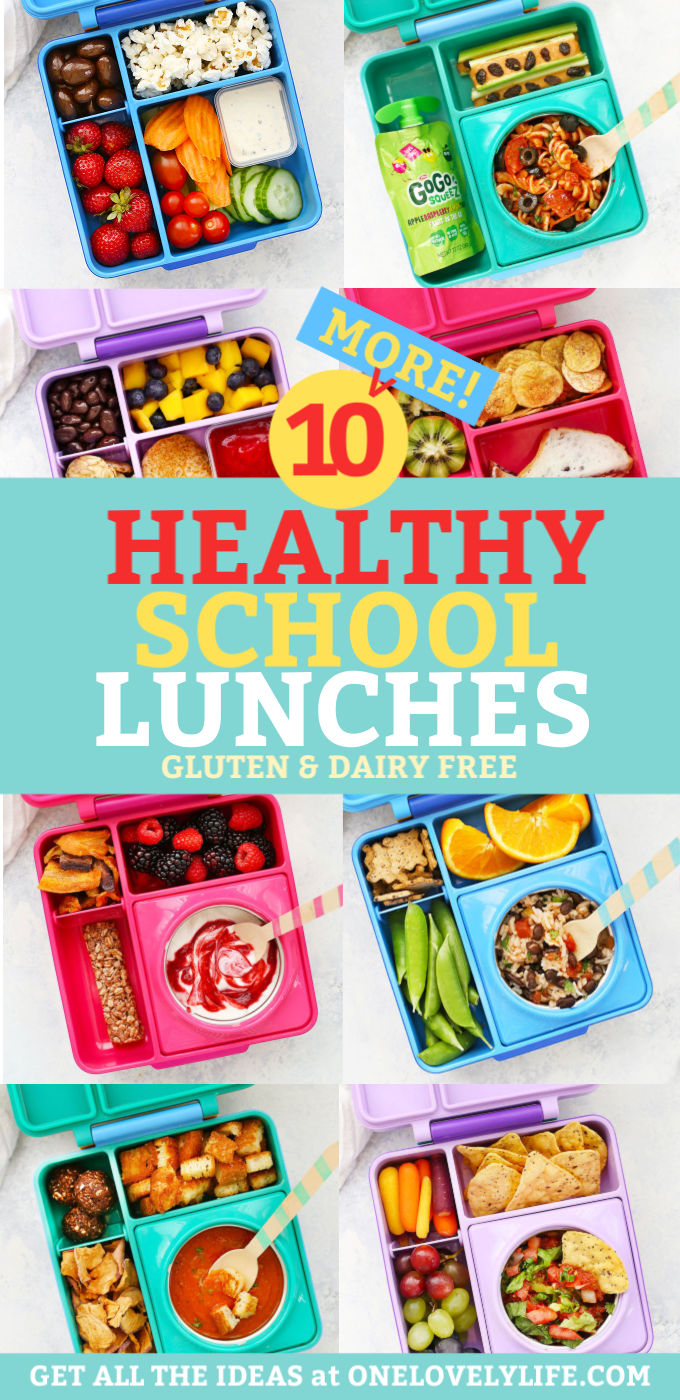 2 Weeks of Healthy School Lunches from One Lovely Life