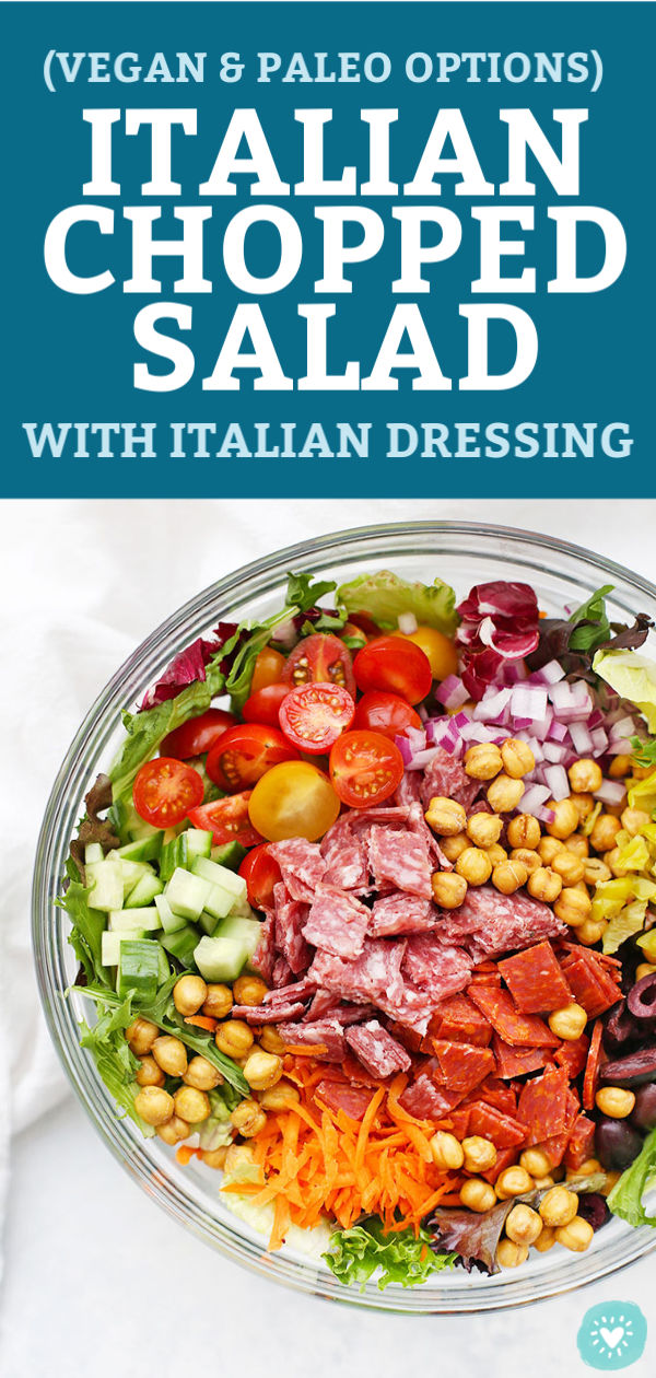 Italian Chopped Salad with Italian Dressing from One Lovely Life