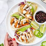 Cilantro Lime Shrimp Tacos from One Lovely Life