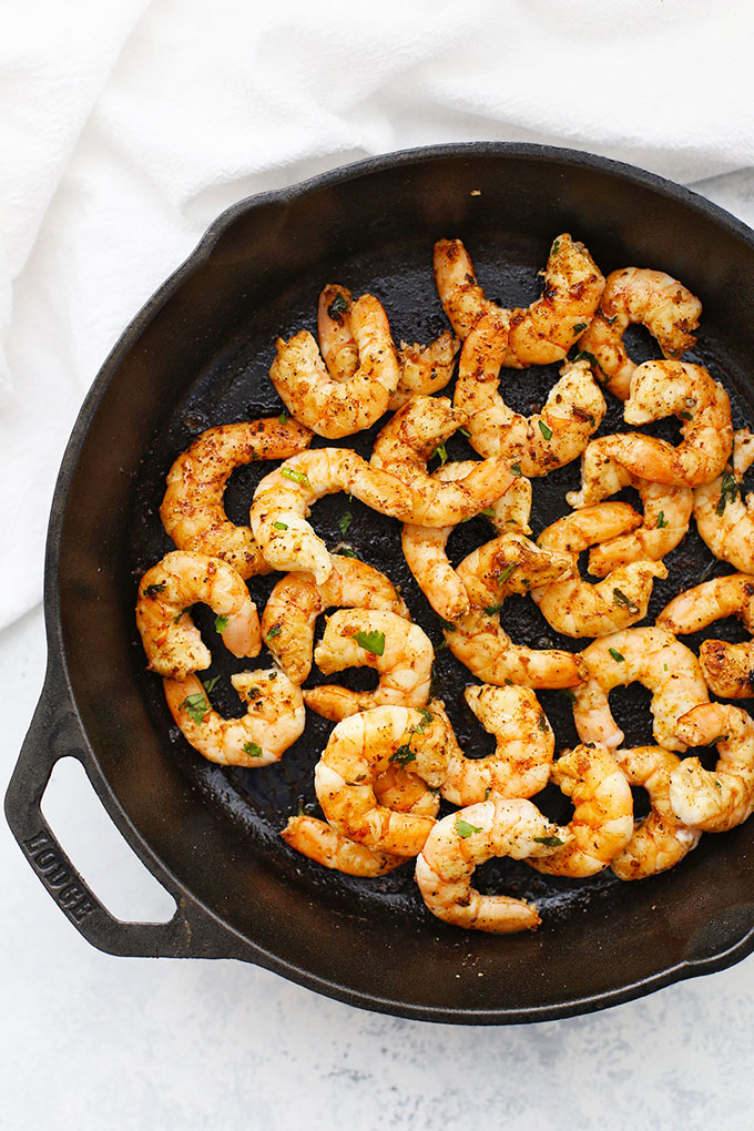 Cilantro Lime Shrimp with Chili Powder from One Lovely Life