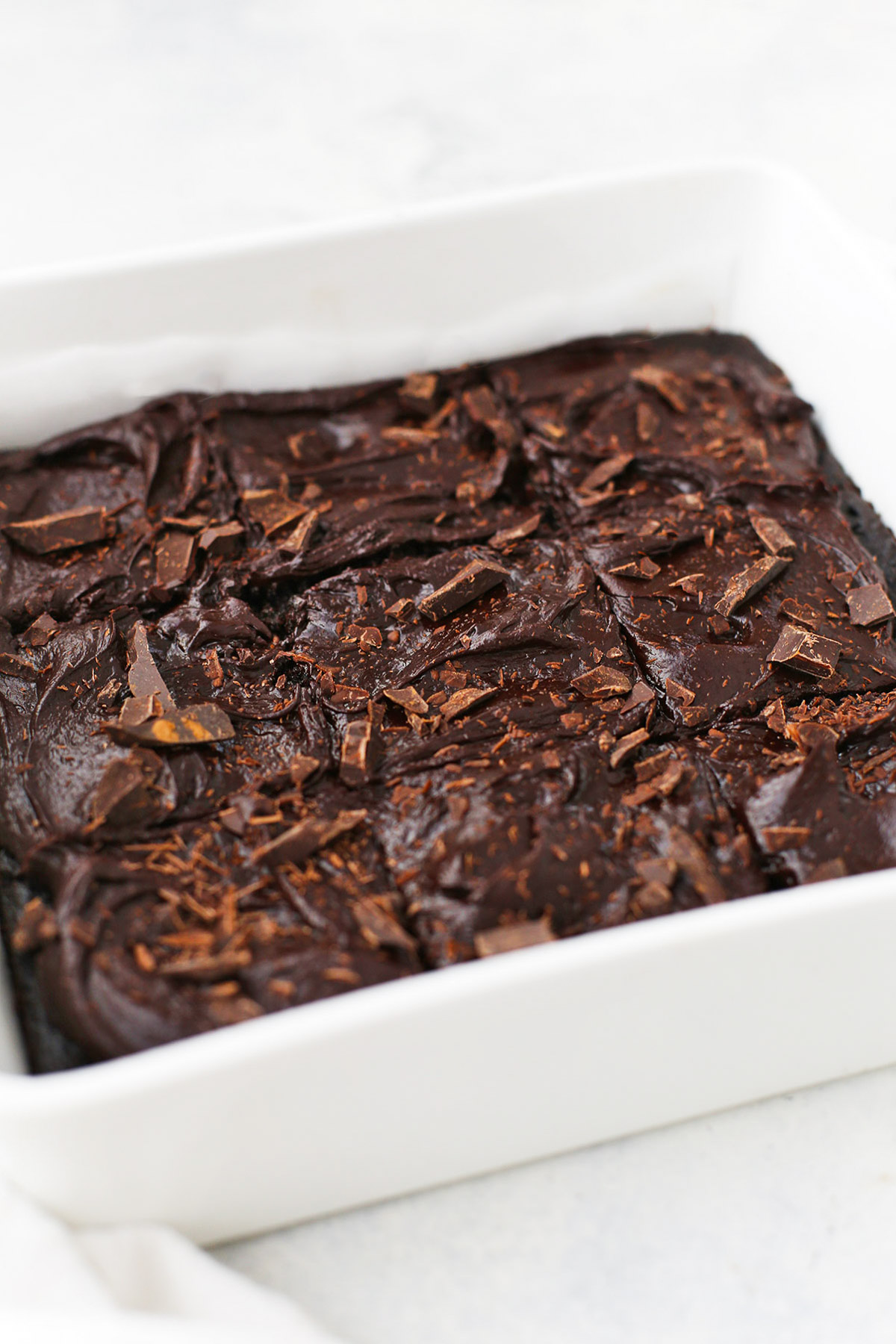 Gluten Free Chocolate Zucchini Cake with Healthy Chocolate Frosting