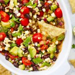 Double Layer Cowboy Caviar Bean Dip from One Lovely Life
