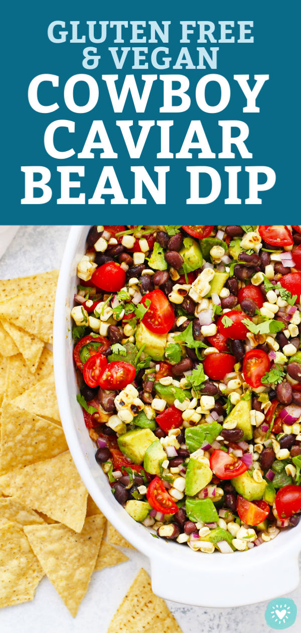2 Layer Cowboy Caviar Bean Dip from One Lovely Life