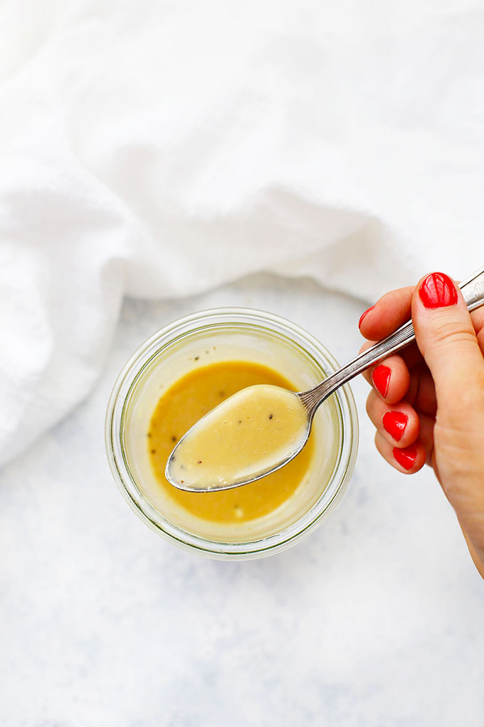 Honey Mustard Dressing for Fall Chopped Salad from One Lovely Life