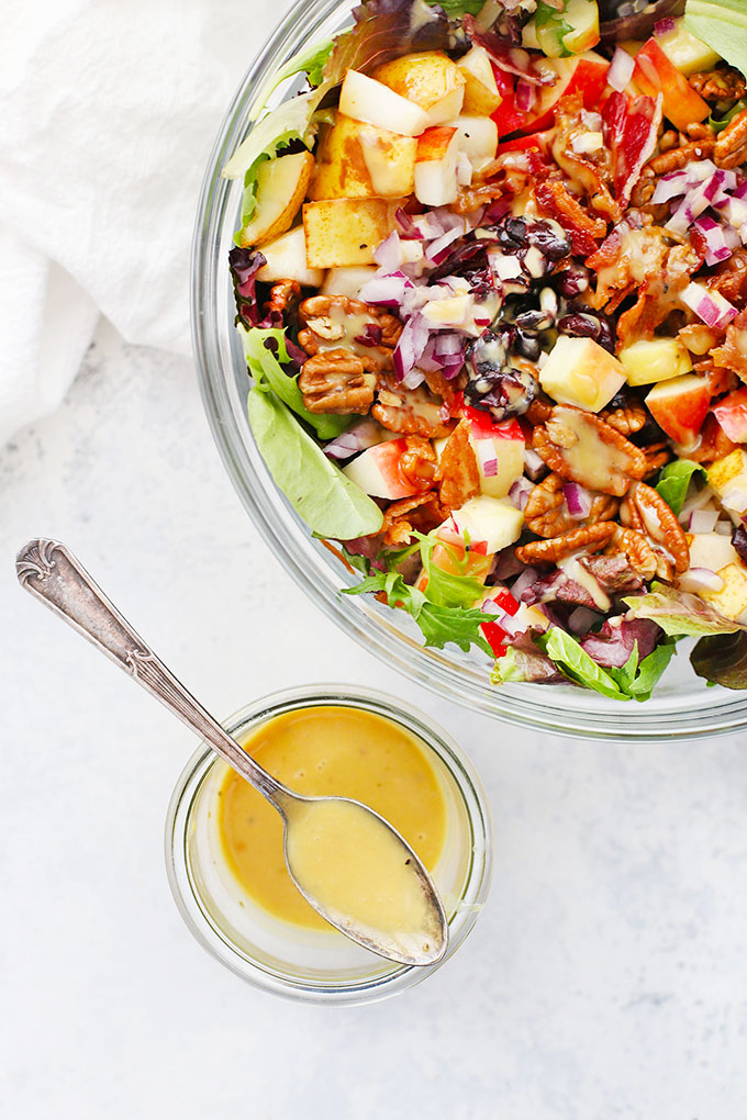Fall Chopped Salad and Honey Mustard Dressing from One Lovely Life