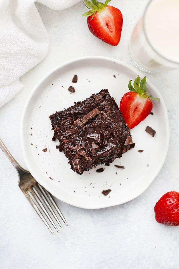 One slice of Gluten Free Chocolate Zucchini Cake