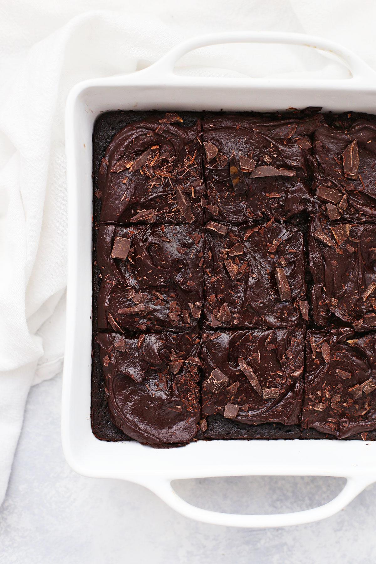 Square Gluten Free Chocolate Zucchini Cake