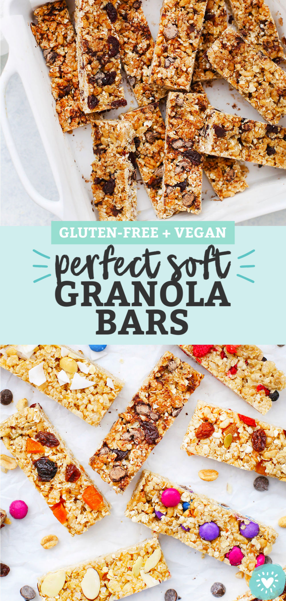 Homemade Soft Granola Bars from One Lovely Life