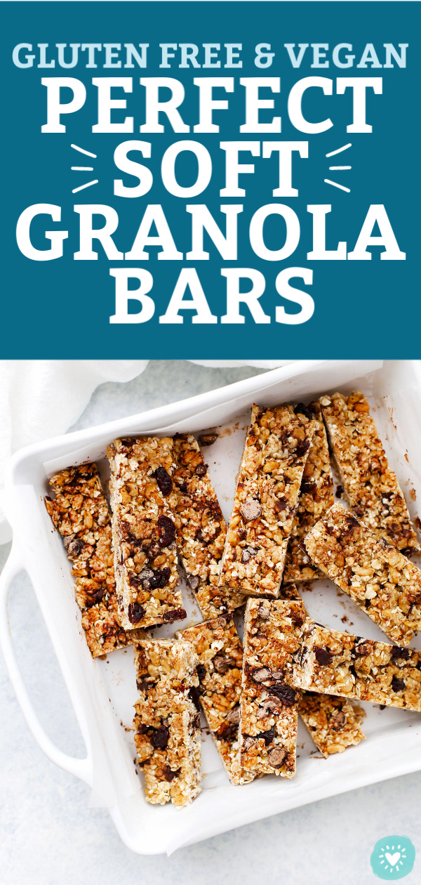 Homemade Soft Granola Bars from One Lovely Life