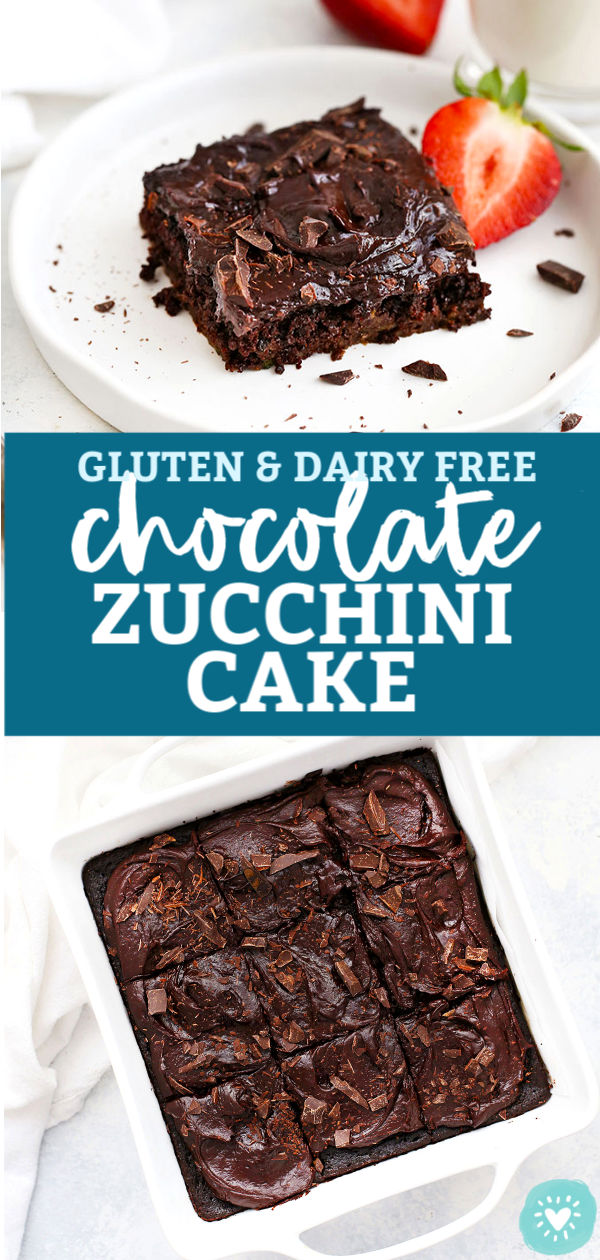 Gluten Free Chocolate Zucchini Cake from One Lovely Life
