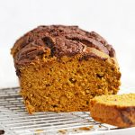 Gluten Free Pumpkin Bread with Chocolate Cinnamon Swirl from One Lovely Life