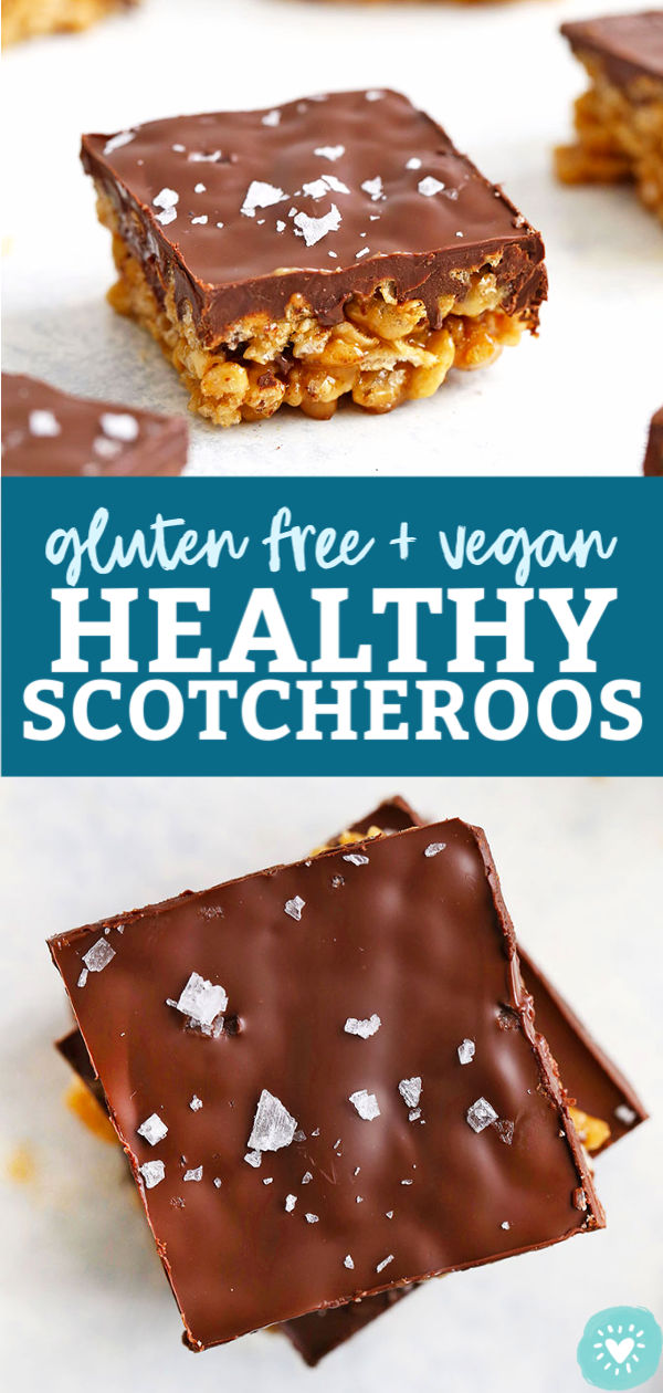 Gluten Free & Vegan Healthy Scotcheroos Bars from One Lovely Life