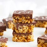 Healthy Scotcheroos No Bake Bars from One Lovely Life