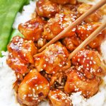 Gluten Free & Paleo Friendly Healthy Sesame Chicken from One Lovely Life