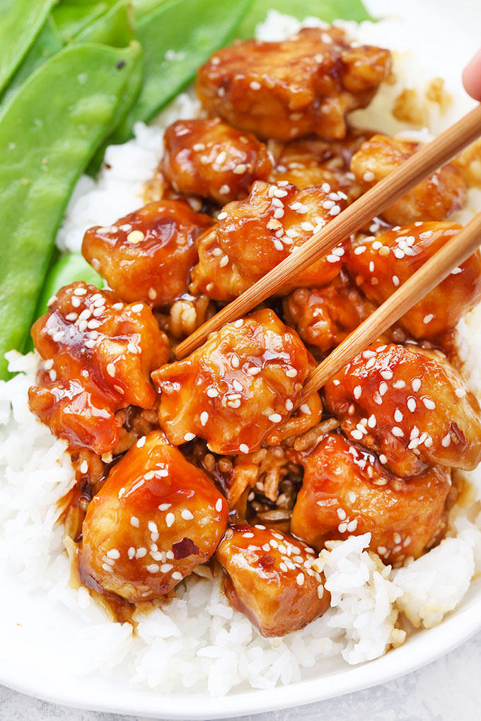 Healthy Sesame Chicken Gluten Free Paleo Friendly One Lovely Life