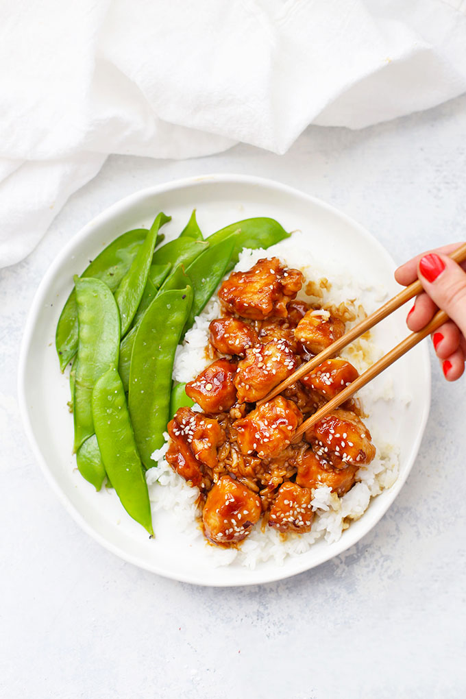 Healthy Sesame Chicken from One Lovely Life