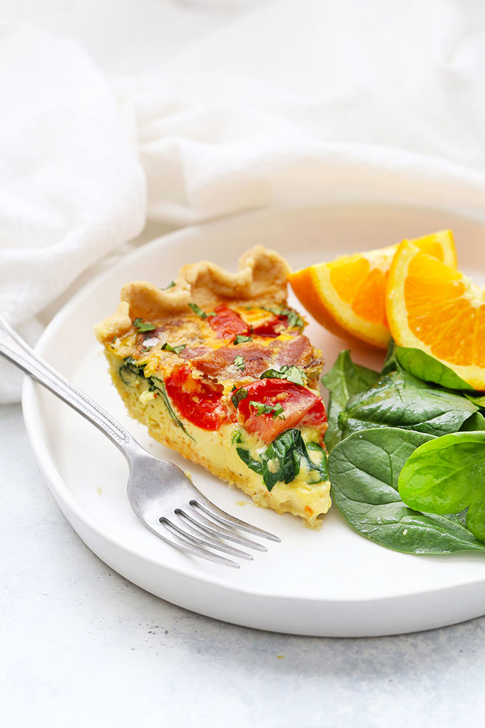 BLT Quiche with Gluten Free Crust from One Lovely Life
