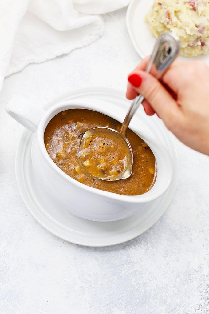 Easy Mushroom Gravy Recipe from One Lovely Life