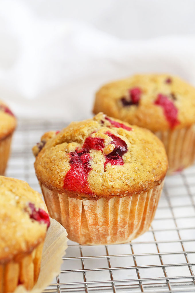 Orange Cranberry Muffins from One Lovely Life