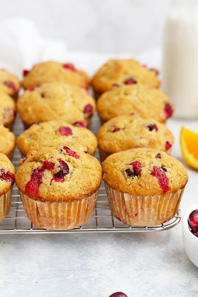 Gluten Free Dairy Free Orange Cranberry Muffins from One Lovely Life