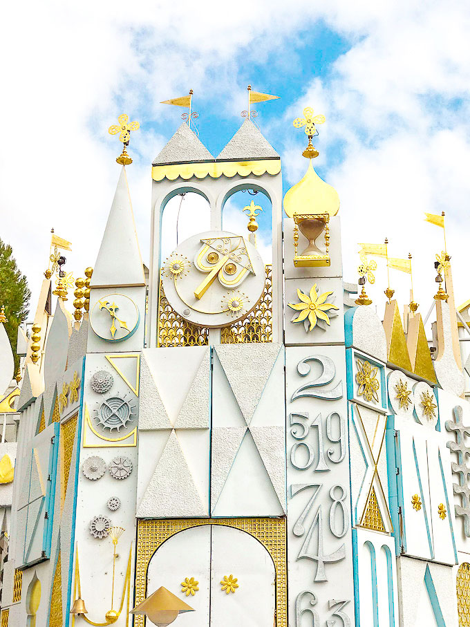 "Exterior of ""It's a Small World"" ride at Disneyland"