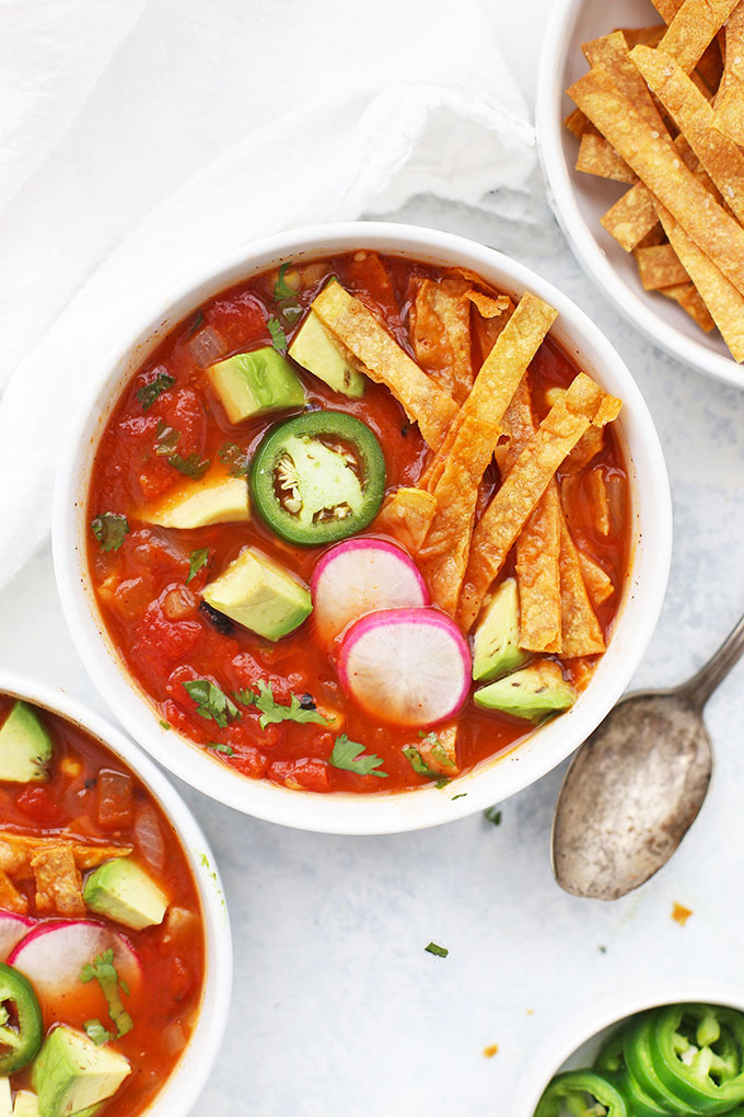 Vegetarian Tortilla Soup from One Lovely Life
