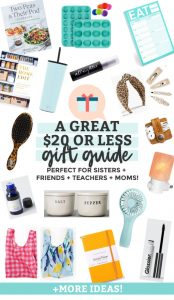 $20 or Less Gift Ideas for Friends, Sisters, Moms, Mother-in-Laws, or Teachers from One Lovely Life
