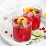 Non-Alcoholic Citrus Pomegranate Drink from One Lovely Life