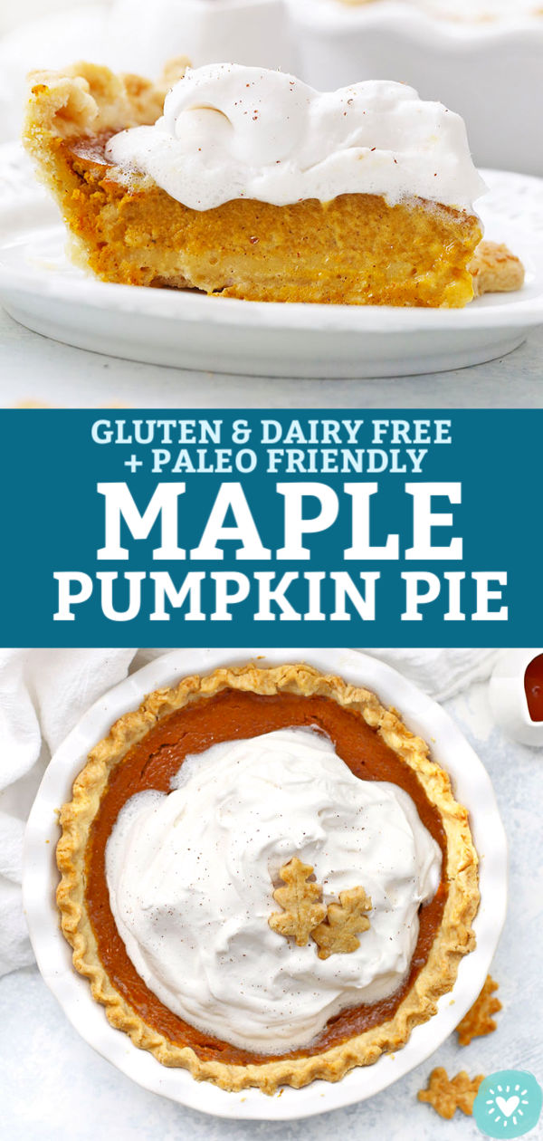 Gluten Free Dairy Free Maple Pumpkin Pie from One Lovely Life