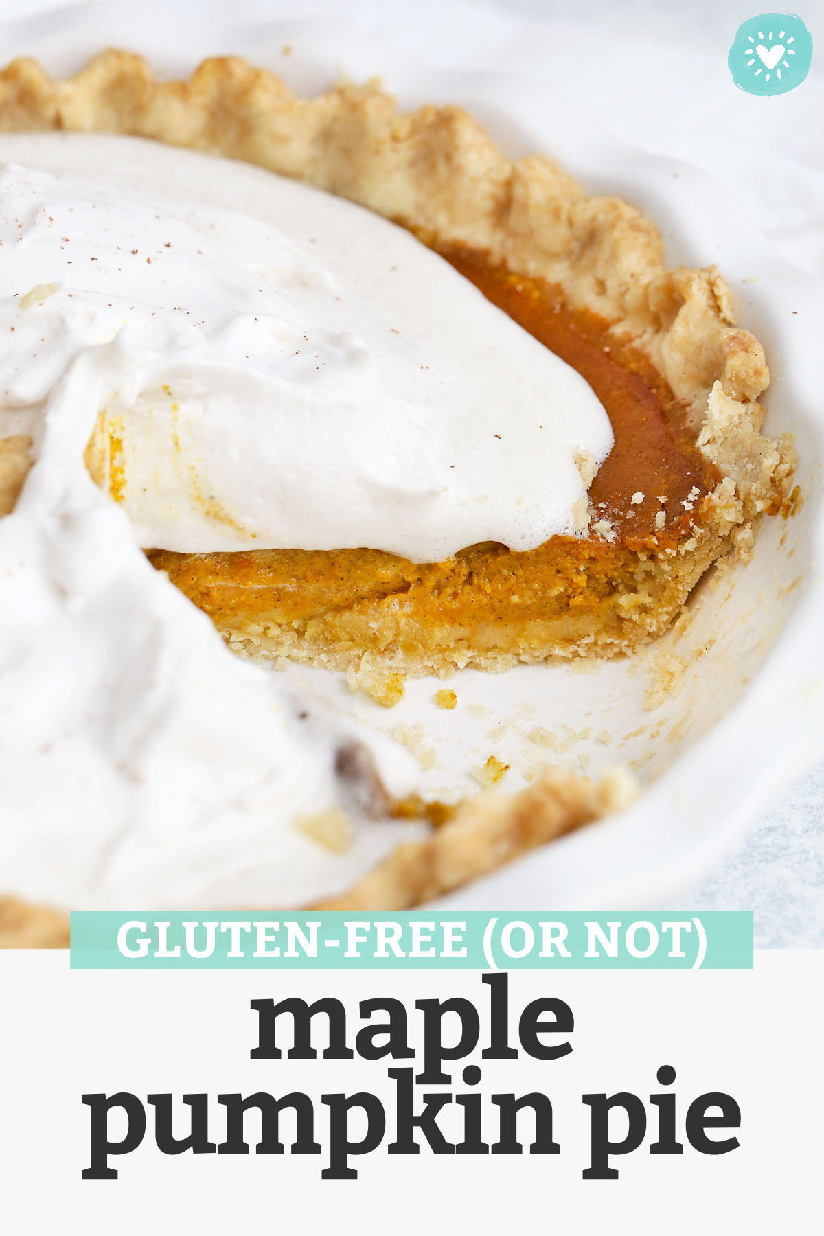 Maple Pumpkin Pie - This naturally sweetened pumpkin pie recipemight be the best pumpkin pie I've ever had. Perfectly spiced and so delicious! (Gluten free, dairy free, paleo-friendly) // paleo pumpkin pie recipe // dairy free pumpkin pie recipe // gluten free pumpkin pie recipe // #pumpkinpie #pumpkindessert #pumpkin #glutenfree #paleofriendly