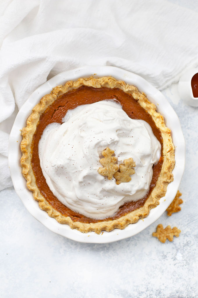 Maple Pumpkin Pie from One Lovely Life