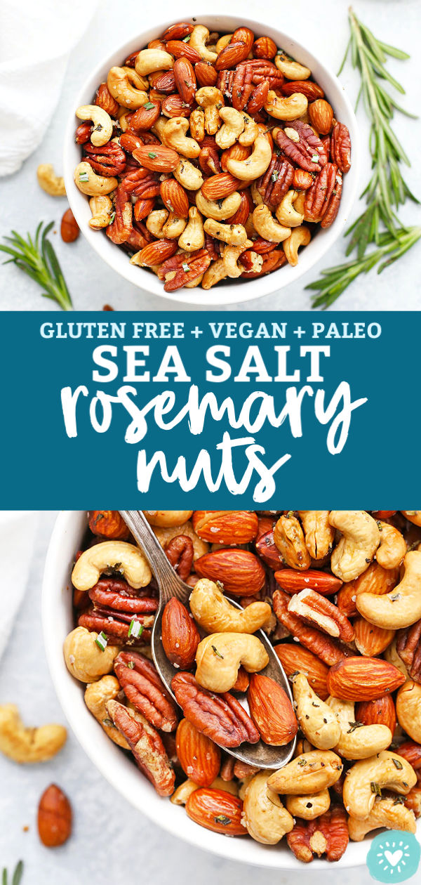 Sea Salt Rosemary Nut Mix from One Lovely Life