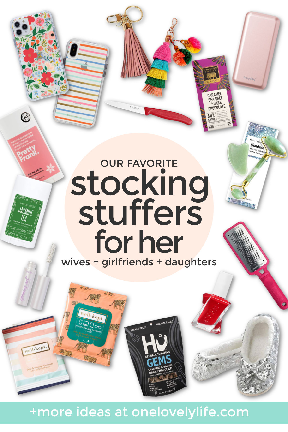 Stocking Stuffer Ideas for Him and Her - Make stocking stuffers steal the show this year with these great ideas for him and her! // Stocking Stuffers for Men // Stocking Stuffers for Women // Stocking Stuffers for Husbands // Stocking Stuffers for Wife #stockingstuffers #giftideas #holidaygiftt #stockings