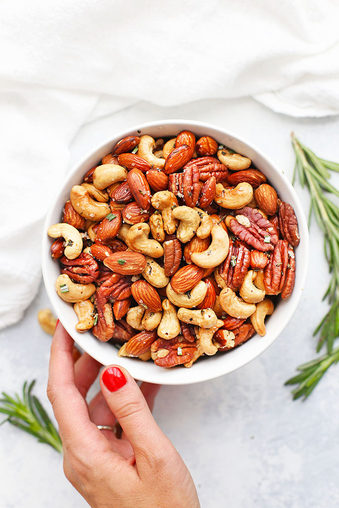 Sea Salt Rosemary Nuts from One Lovely Life