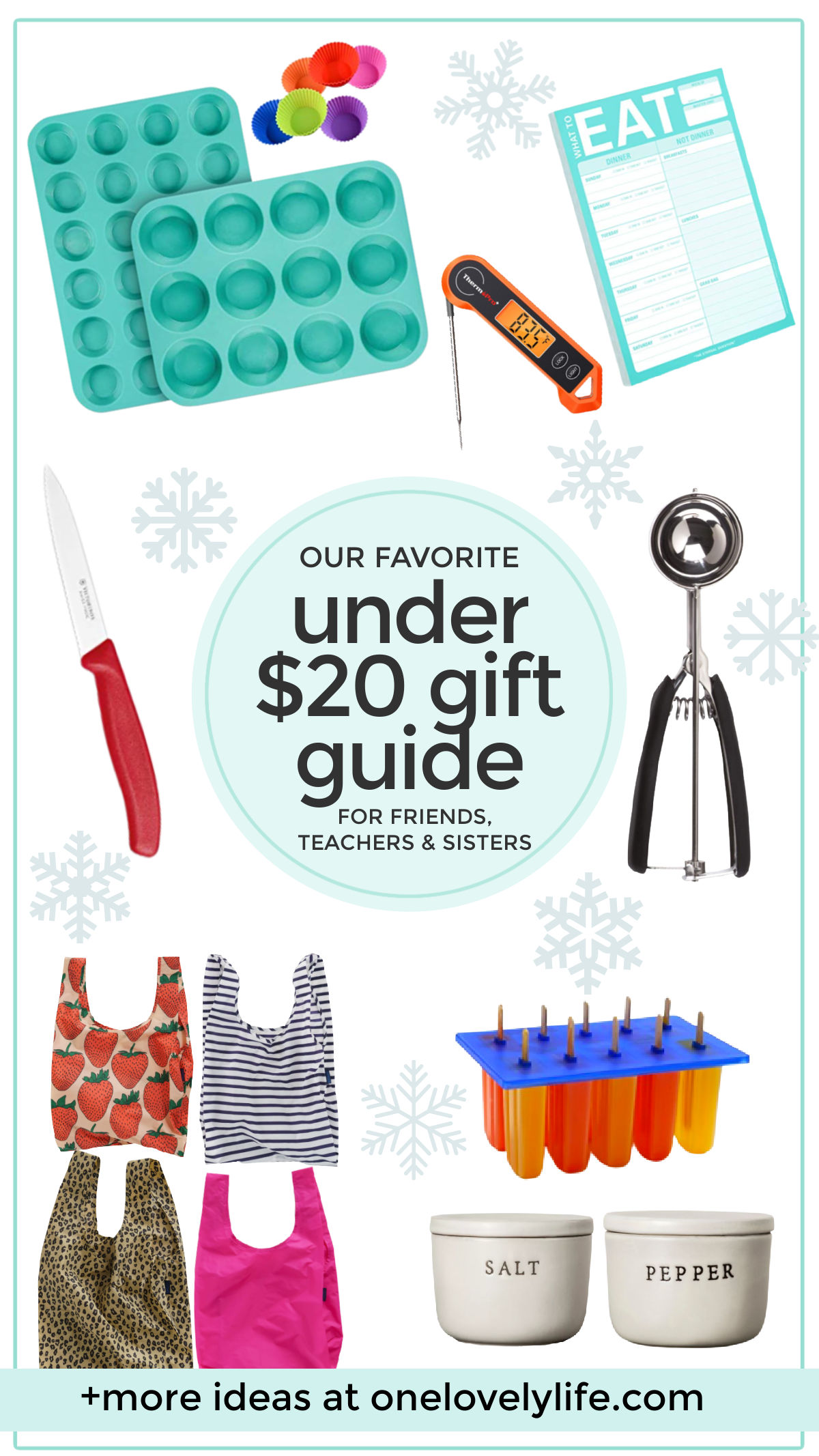 The Under $20 Gift Guide is HERE! - Great gifts can be found on a budget! I've rounded up 40+ AWESOME gifts ideas for $20 or less. They're perfect for friends, sisters, moms, in-laws, teachers, and YOU! // Budget gift ideas // teacher gift ideas // friend gift ideas // sister gift ideas // mother in law gifts // mom gifts // gifts for mom // gifts for in-laws // gifts for teachers // gifts for friends // gifts for sisters #giftguide #giftideas #holidaygifts #budgetgifts