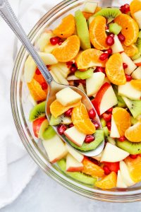 Winter Fruit Salad with Orange Dressing from One Lovely Life