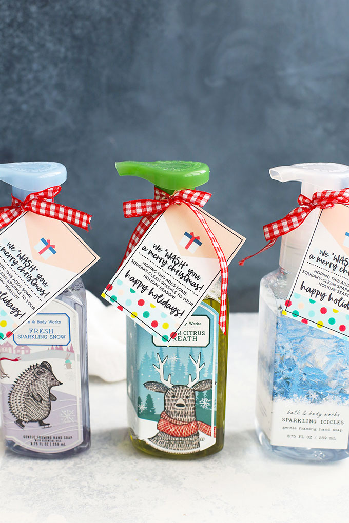 Holiday Soap Gift Idea + Free Printable Gift Tags from One Lovely Life