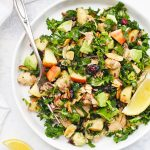 Wild Rice Kale Salad with Chicken from One Lovely Life