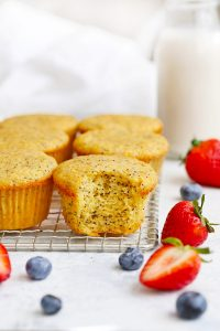 Gluten Free & Paleo Almond Flour Lemon Poppy Seed Muffins from One Lovely Life